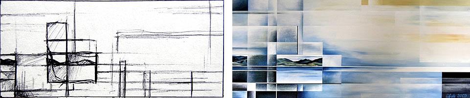 Abstract sea art