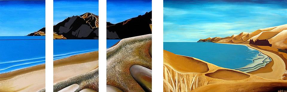 Beach scenes acrylic