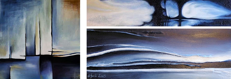 Abstract art: paintings by Amiria Gale