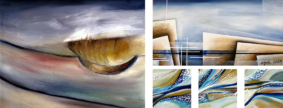 Abstract water: paintings by Amiria Gale